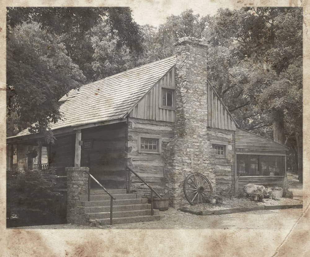 Rustic photo of old cabin